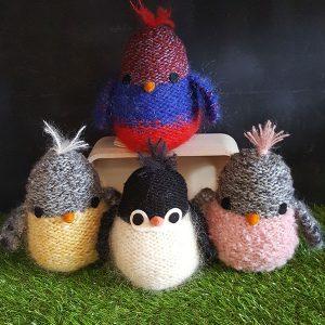 Birch-Bear-Creatures-Coloured-Knitted-Birds