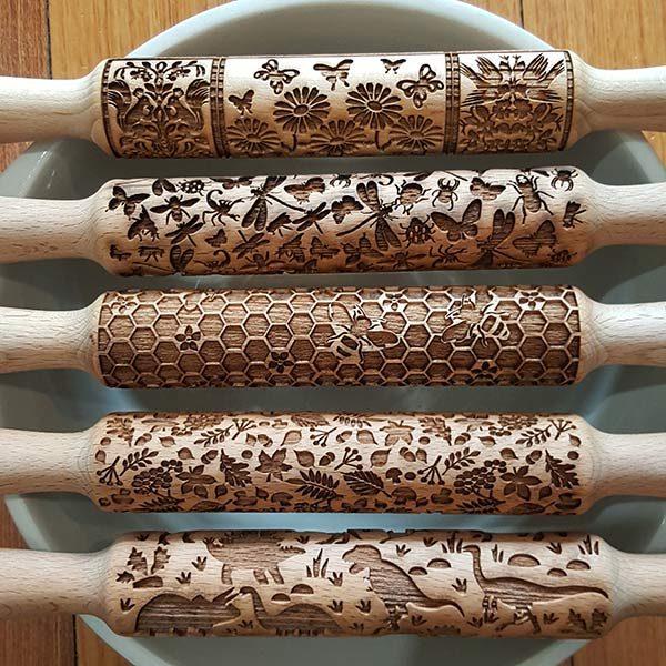 Birch Bear Embossed Rolling Pins