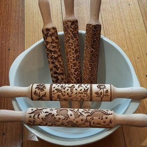Birch Bear Embossed Rolling Pins